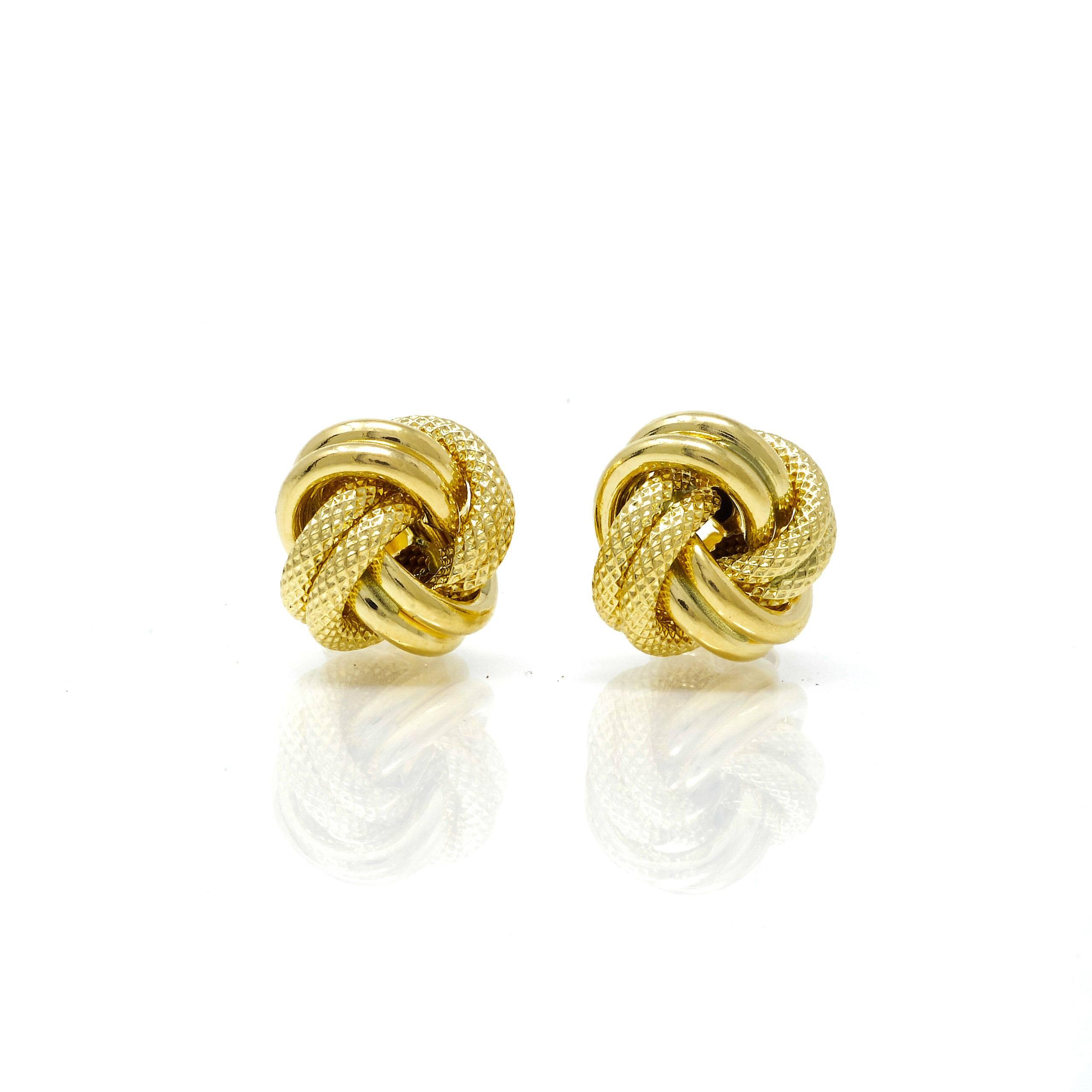 Boucles d'oreilles nœud Or 18 carats