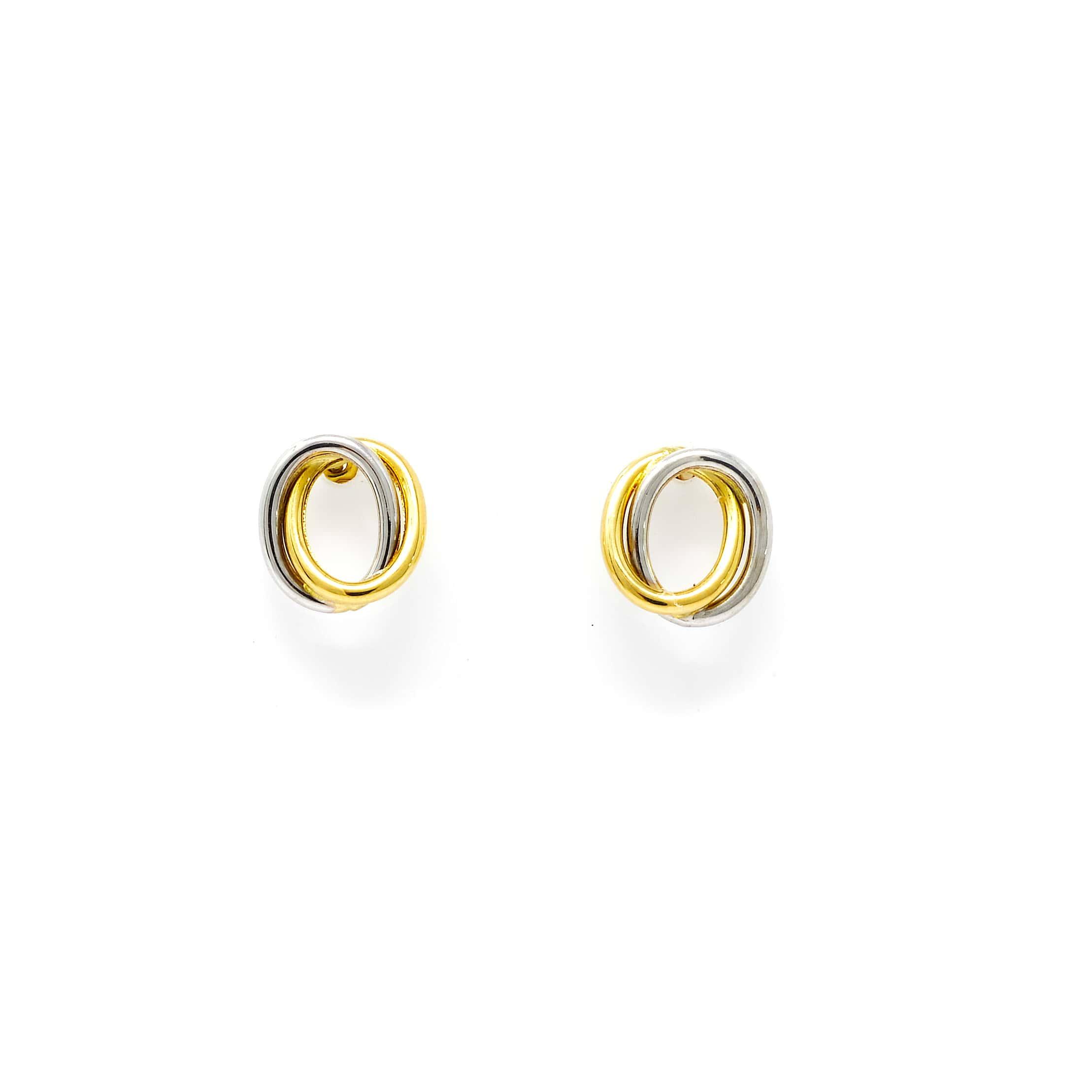 Boucles motifs ovales 2 COULEURS 18 carats-5-min