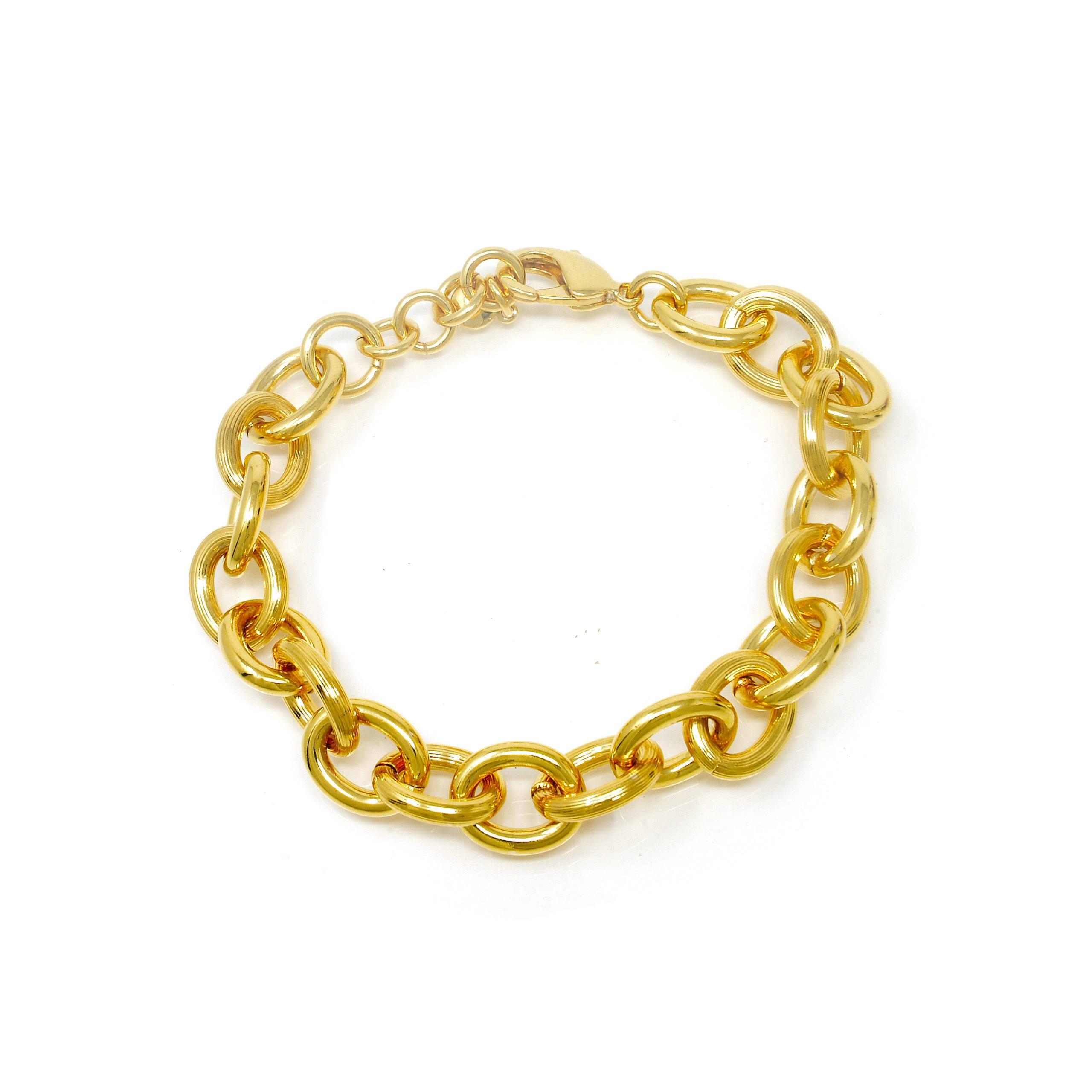 Bracelet forcat plaqué or 20cm-12