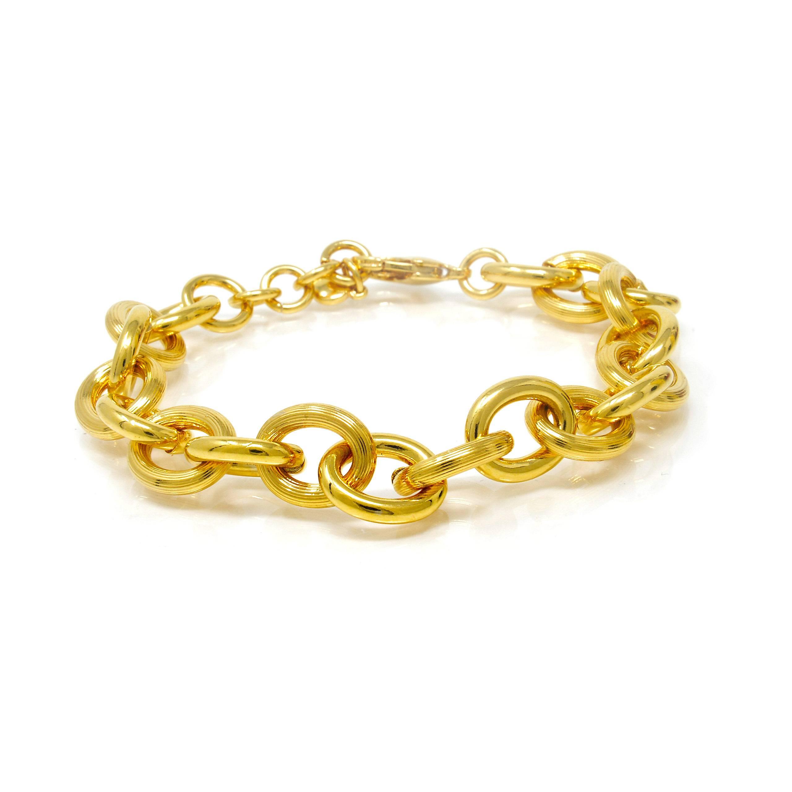 Bracelet forcat plaqué or 20cm-14