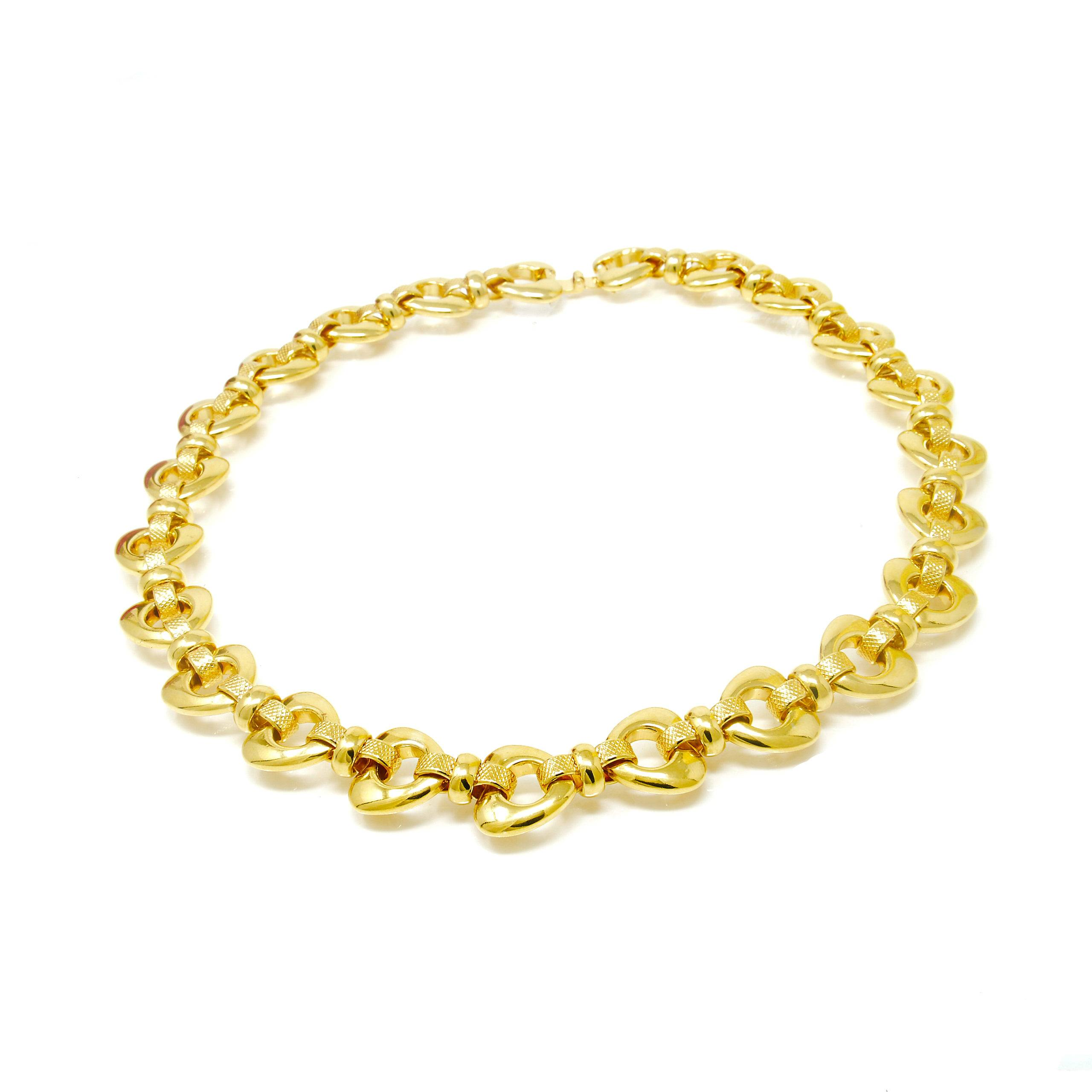 COLLIER MAILLE FORME COEUR 45CM-2