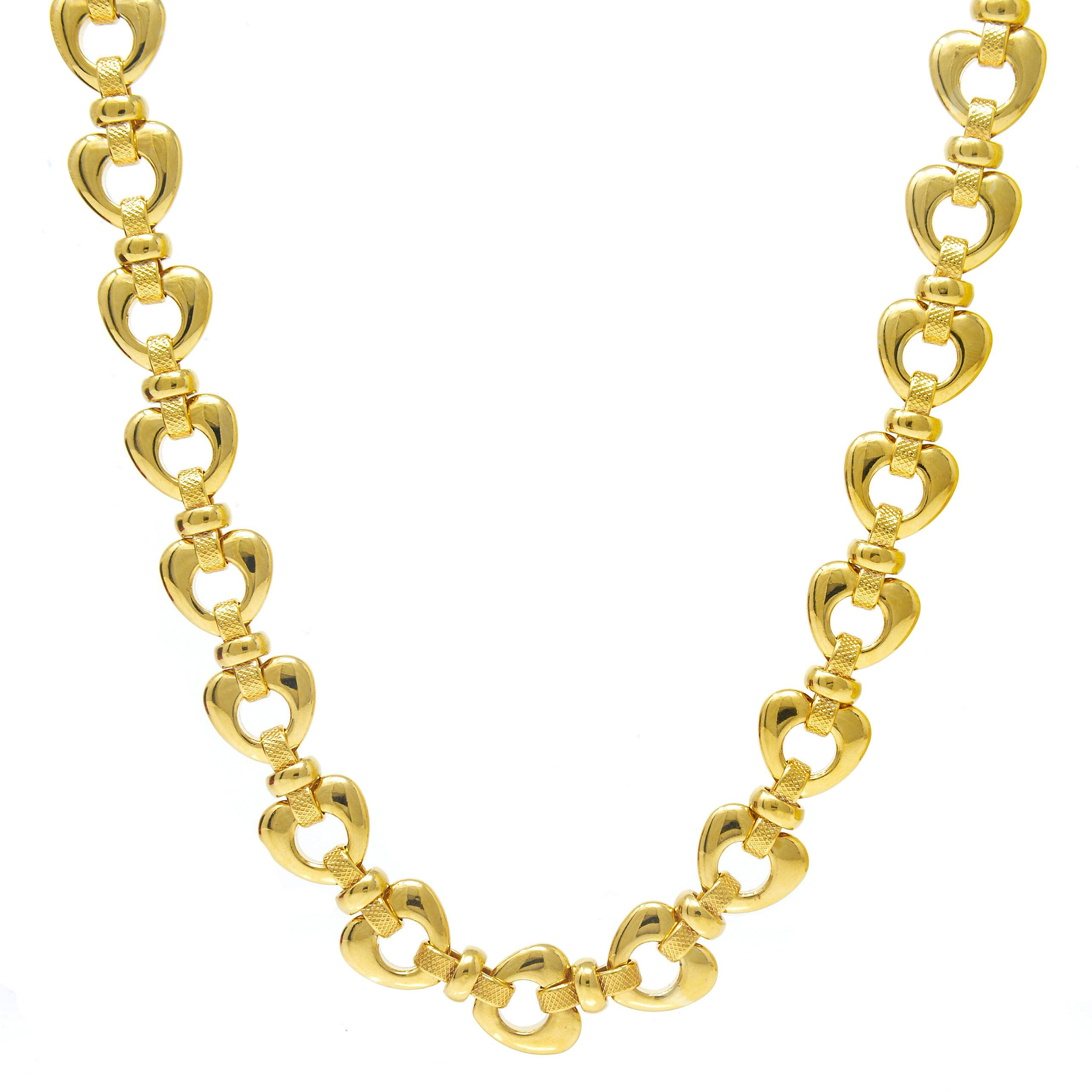 COLLIER MAILLE FORME COEUR 45CM